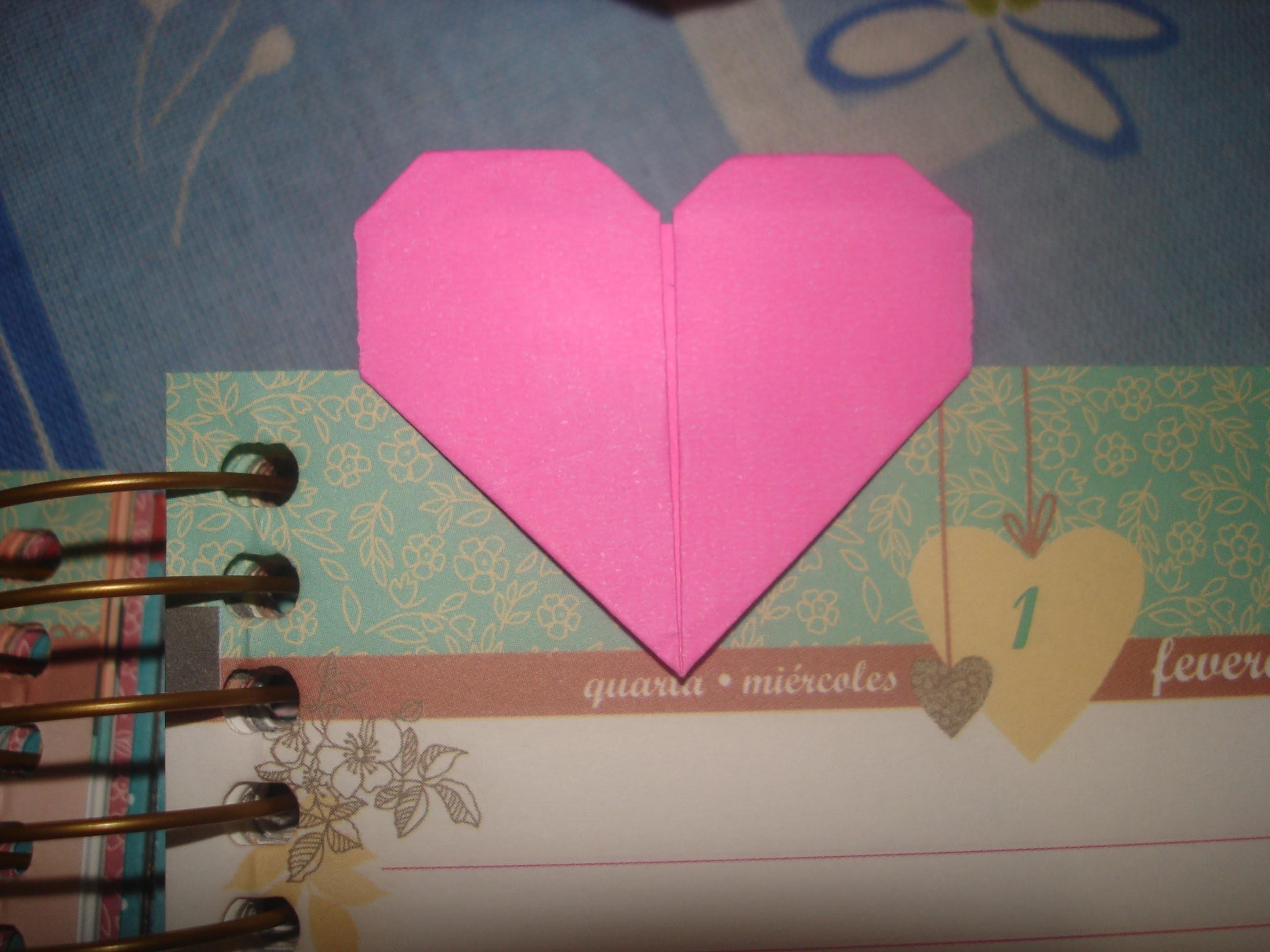 Origami - marca página coração