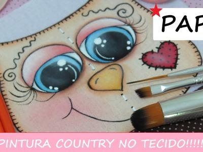 Pintura Country no Tecido - Pintando Olhinhos de Coruja