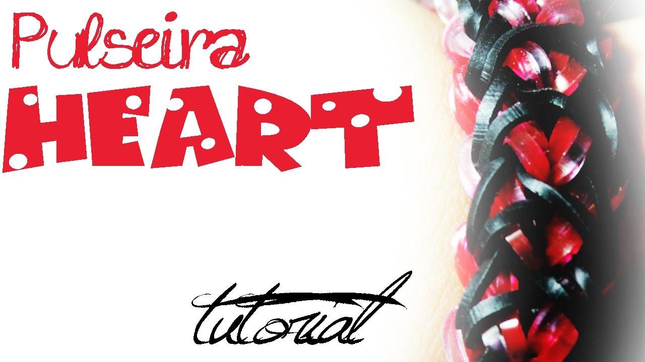 Pulseira HEART - DIY LOOM - PT.PT PT.BR