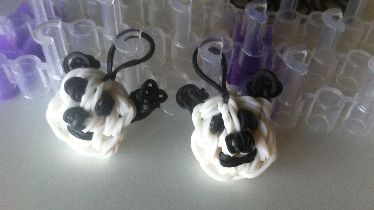 Pulseiras de Elásticos Rainbow Loom: Como fazer um panda com elásticos