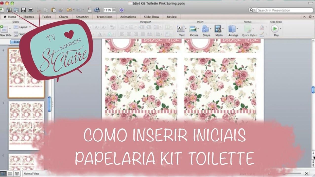 Tutorial Papelaria Kit Toilette - Como Imprimir Kit Toalete - DIY - Faça Você Mesma