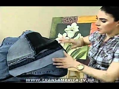 Tv Transamérica - Puff para pet's - Reciclagem de jeans
