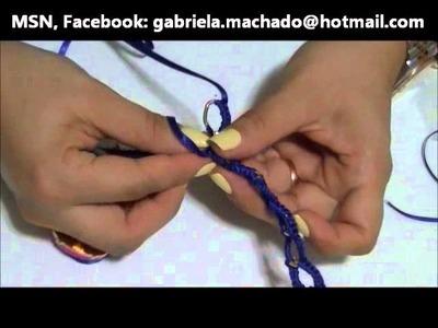 AnaGGabriela - Vídeo-aula 35 - pulseira dourada trançada com fita a rigor
