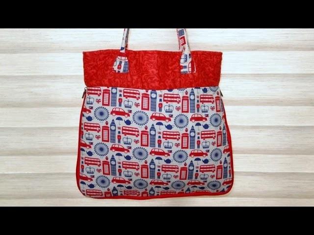 Bolsa sacola London - Maria Adna Ateliê - Cursos de bolsas e sacolas em tecidos
