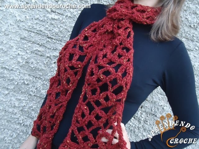 Cachecol de Croche Botonê - 1º Parte - Aprendendo Crochê