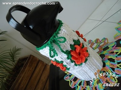 Capa de Croche para Garrafa Térmica 1 Litro - 2º Parte