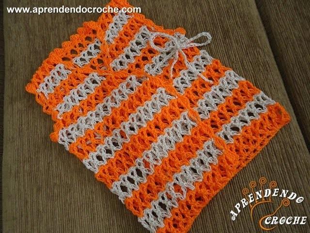 Colete de Croche para Bebê Nemo - 1º Parte - Aprendendo Crochê