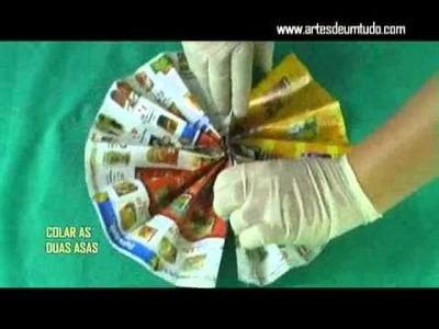 Como Fazer Marionete de Borboleta de Origami #03