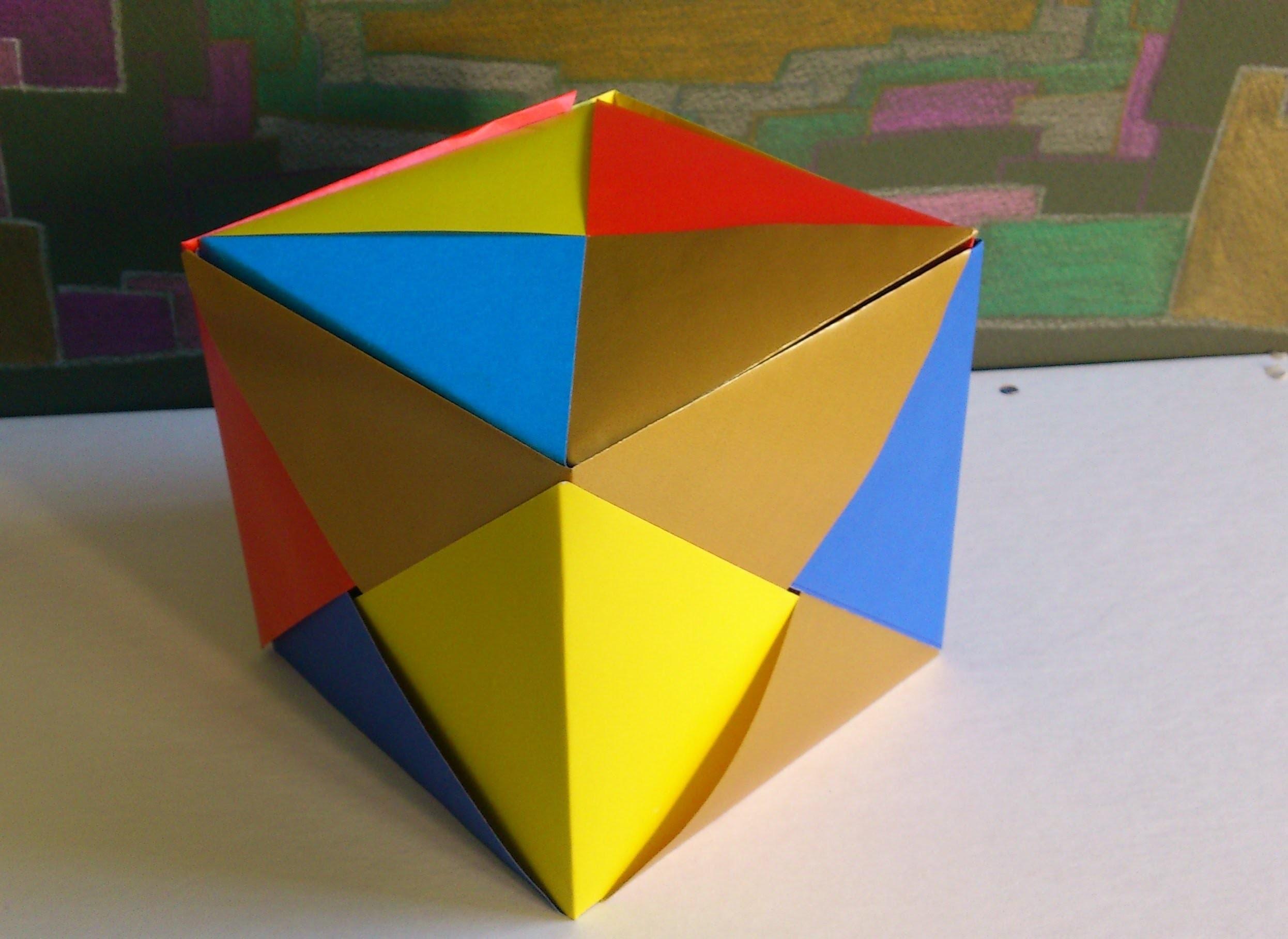 Como fazer uma Caixa, Cubo de Origami - How to make a Origami Box