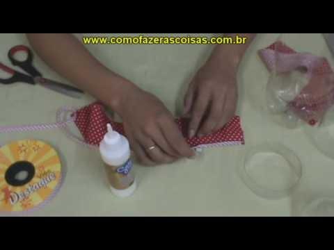 Como fazer uma cesta de garrafa pet - parte 3