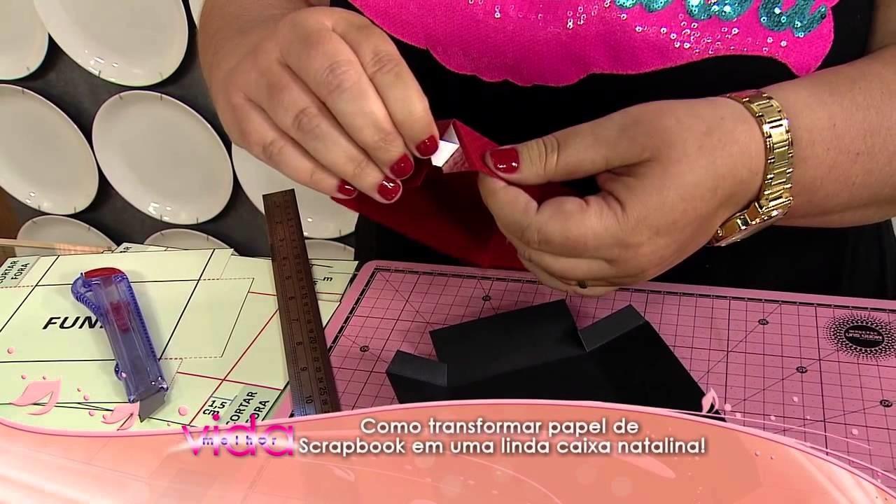 Como transformar papel de Scrapbook em uma linda caixa natalina!