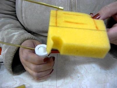 Corte de espuma com cortador de isopor