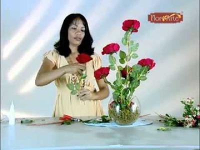 Curso Flor Arte - Arranjo de Canto Rosa