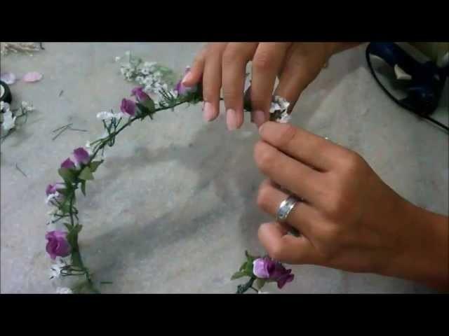 DIY: Coroa de flores