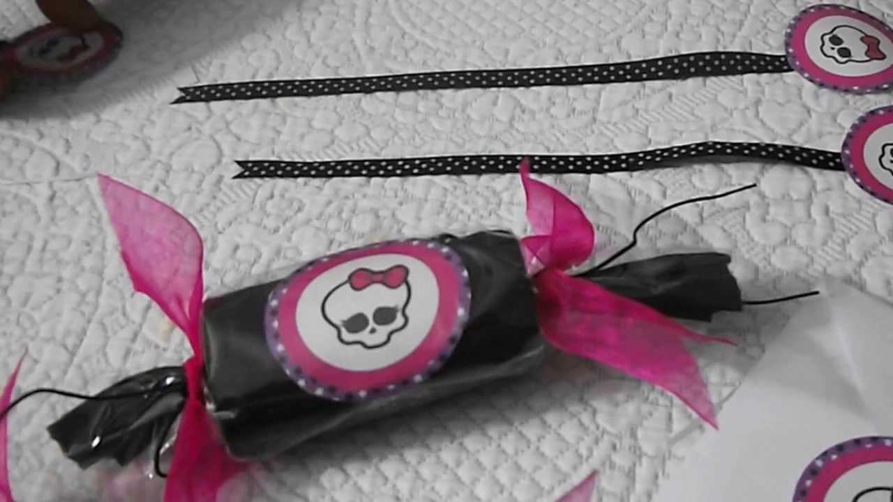 DIY: Lembrancinhas  de aniversário Monster High