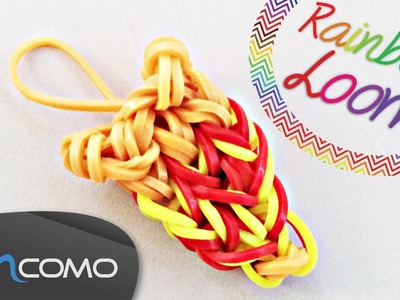 Fatia de Pizza - Rainbow Loom