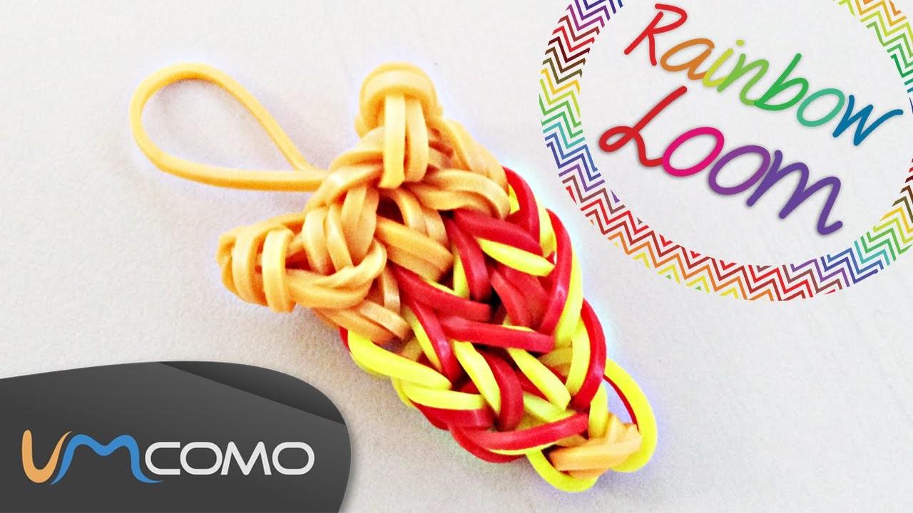 Fatia de Pizza - Rainbow Loom