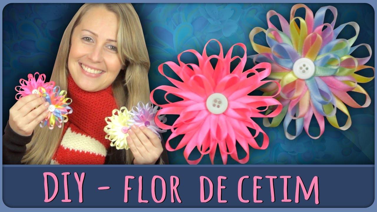 Flor de Cetim =DiY