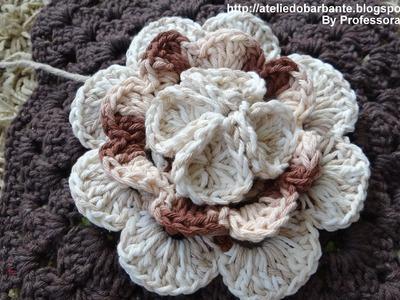 Flor Rainha em Crochê Parte -2