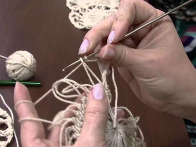 Mulher.com 04.06.2014 - Blusa Marrom Croche Grampo por Helen Mareth