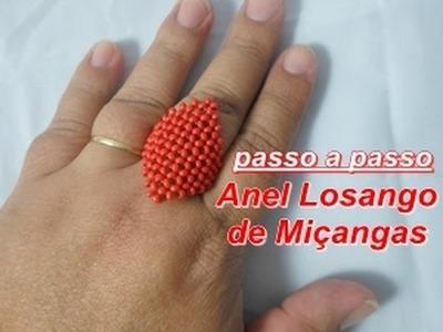 NM Bijoux - Anel Losango de Miçangas