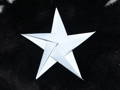 Origami: Estrela de 5 pontas