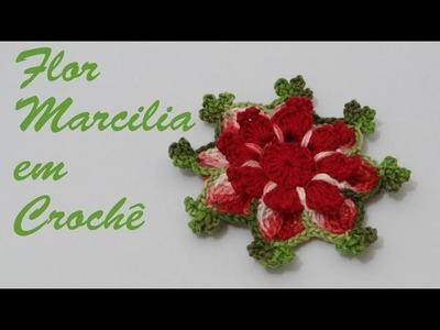 Passo a passo Flor em Crochê MARCILIA
