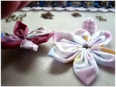 PINGENTE  ( Flor de Tecido )