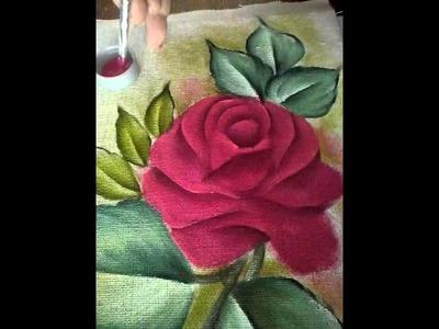 Pintando rosas vermelho carmim com Eloina Souza