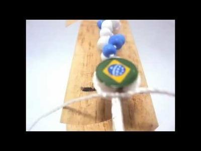 Pulseira de macrame nó espiral- Como fazer bijuteria de macrame