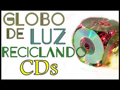 RECICLANDO CDs E DVDs. LUMINÁRIA OU GLOBO DE LUZ PASSO A PASSO