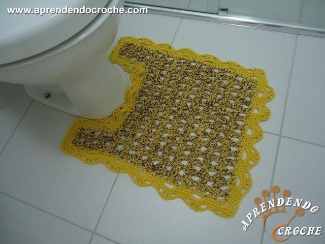 Tapete Vaso Firenze em Croche - Jogo de Banheiro Crochê