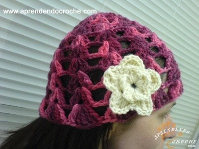 Touca Croche Menininha - 2º Parte - Aprendendo Crochê