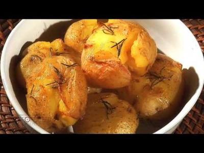 Vídeo Receita - Como Fazer Batatas ao Murro