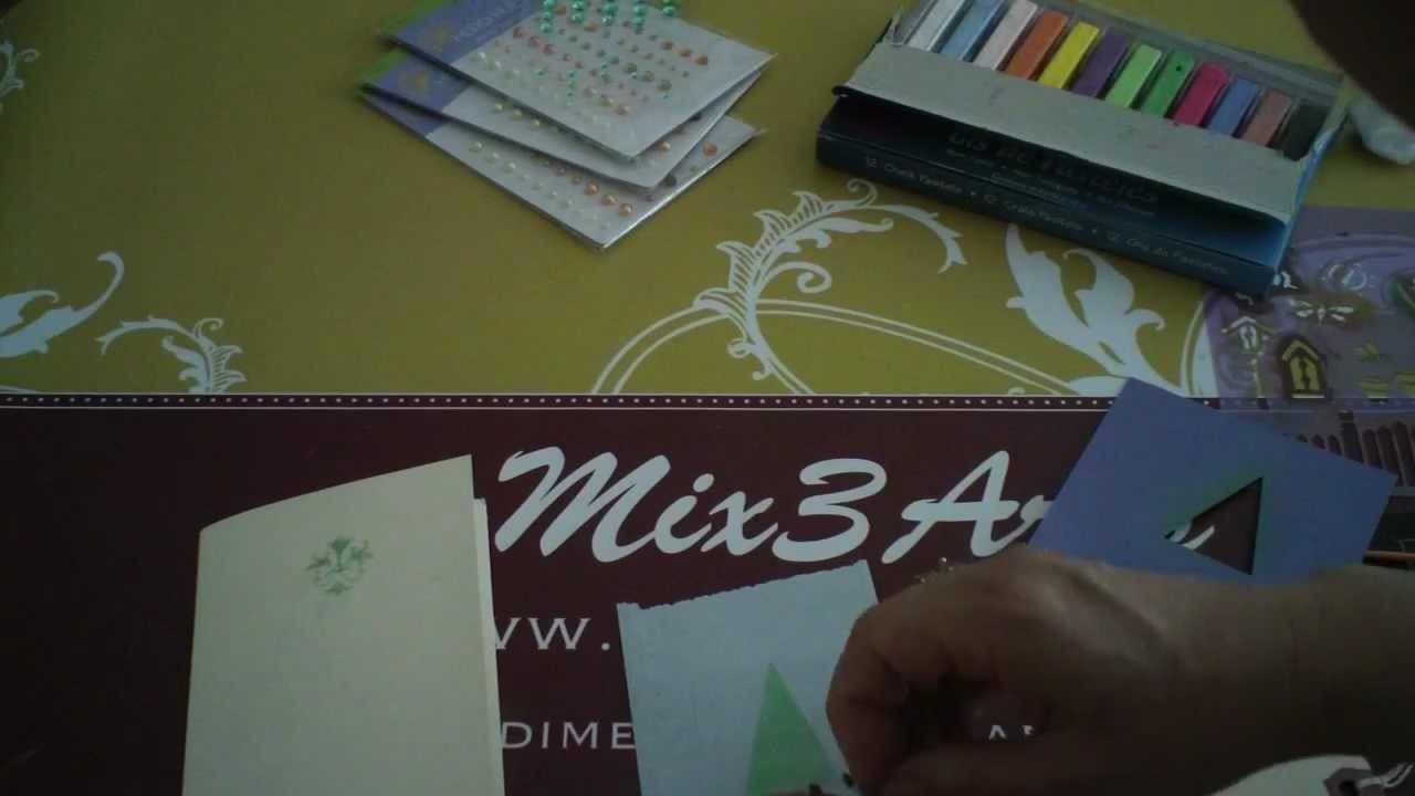 Aplicar giz em projetos de scrapbooking - chalk