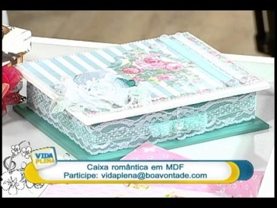 Artesanato - Caixa em MDF (Parte 2)