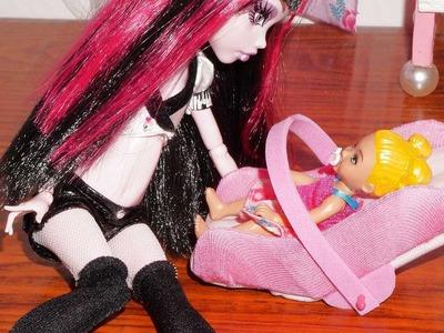 Como fazer bebê conforto para boneca Monster High, Barbie, MLP, EAH, etc