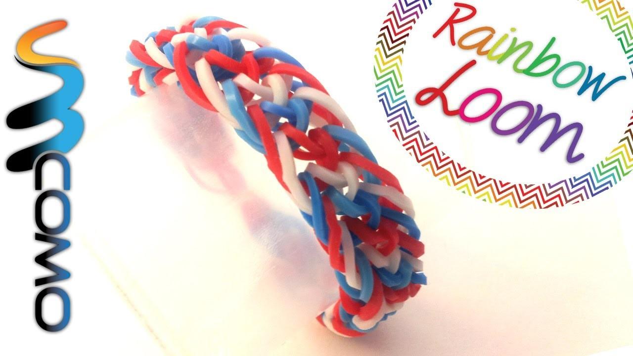 Como fazer pulseiras de elástico - Zig Zag Fishtail