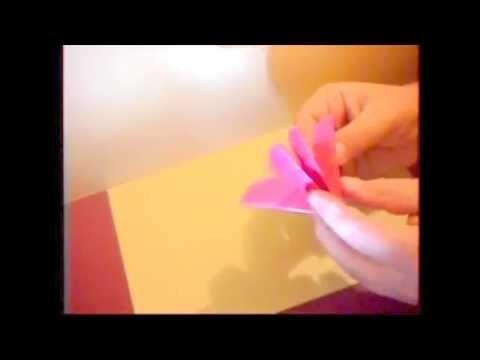 Como fazer uma FLOR de papel Origami how to make a FLOWER Dobradura