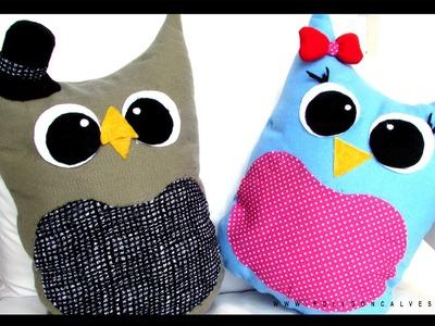 DIY Faça você mesma: Almofada decorativa coruja | Poly Gonçalves
