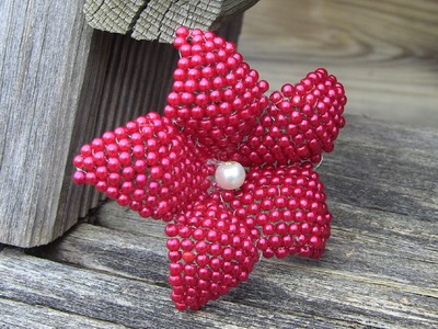 1°  nd PART flower in beads ° parte Flor em Miçanga Passo a Passo