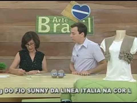 ARTE BRASIL -- CLAUDIA MARIA -- BOLERO EM CROCHÊ COM BABADINHO (07.03.2011 - Parte 2 de 2)