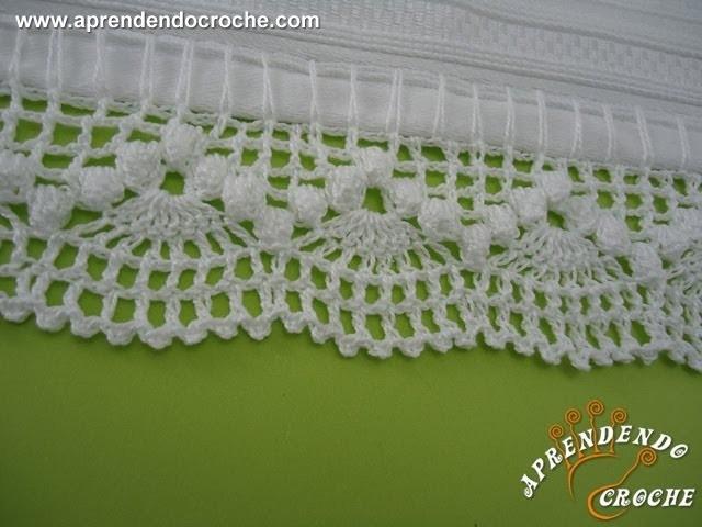 Barrado de Croche Dançarinas - Aprendendo Crochê