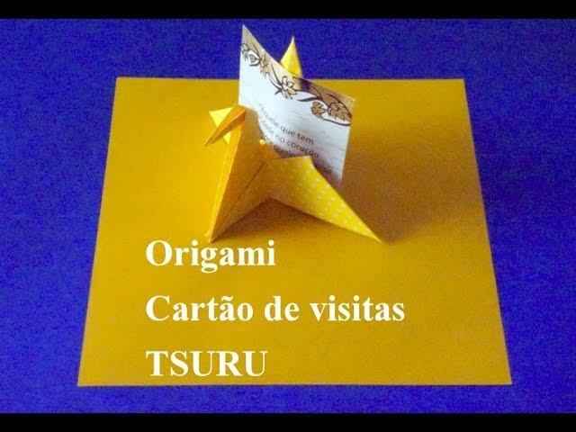 Como fazer um PÁSSARO de papel Origami dobradura how to make a bird card