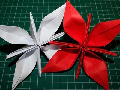 Como fazer uma flor de papel (Origami)
