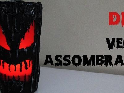 DIY: Vela Assombrada (Porta Velas para Decoração Halloween)