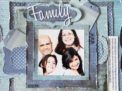 Flavia Terzi.TV - Página Scrapbook com Distress Episódio 16