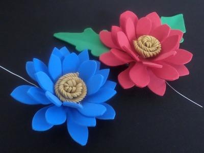 Flor Gerbera de EVA - passo a passo