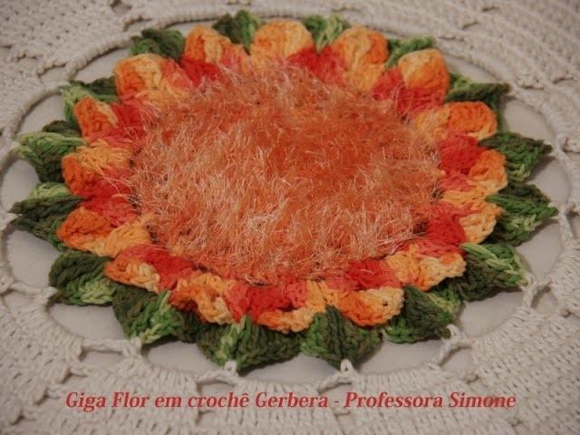 Giga Flor em crochê Gerbera - Professora Simone