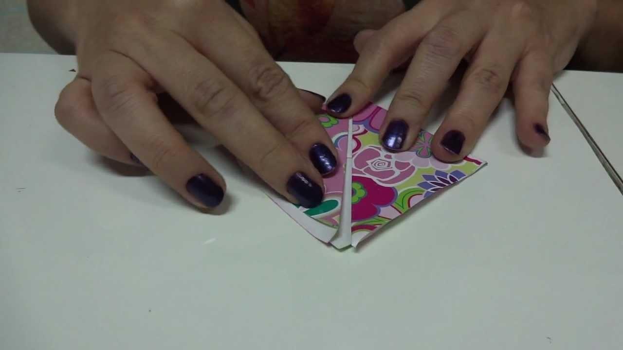 Marcador de páginas em origami